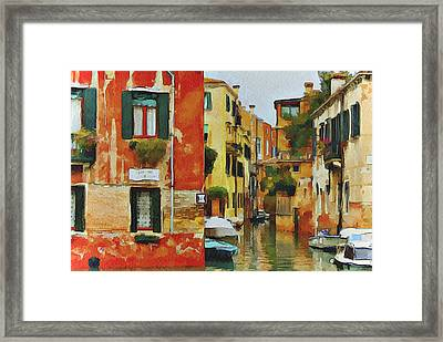Venice Canals Watercolor 7 Framed Print