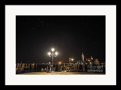 Night Lamp Photographs Framed Prints