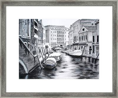 Framed Print featuring the drawing Venice City Of Love by Chris Fraser