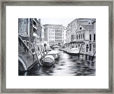 Venice City Of Love Framed Print