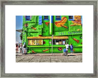 Venice Deli Framed Print by Kip Krause