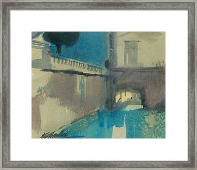 Framed Print featuring the painting Venice  by Ed  Heaton