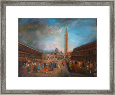 Framed Print featuring the painting Venice by Egidio Graziani