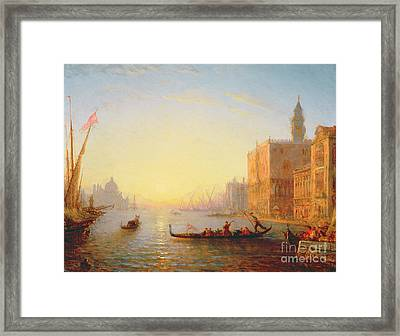 Venice Evening Framed Print by Felix Ziem