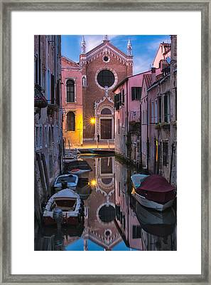 Venice Evening Framed Print by Joan Herwig