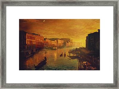 Venice From The Rialto Bridge Framed Print by Blue Sky