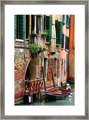 Venice Getaway Framed Print by Mariola Bitner