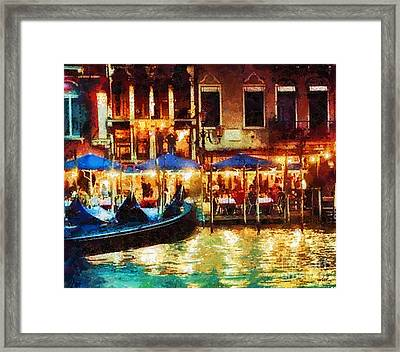 Venice Glow Framed Print by Mo T