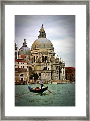 Venice Gondola Framed Print by Henry Kowalski
