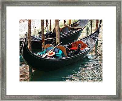 Framed Print featuring the photograph Venice Gondola by Jeanne  Woods