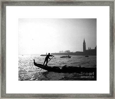 Venice Gondola Framed Print by Rita Brown