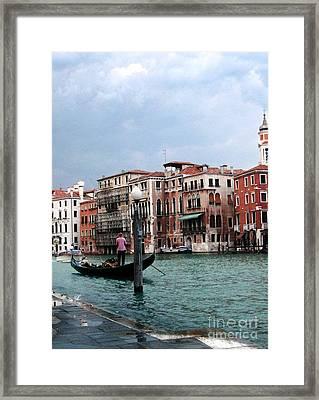 Venice Gondola Framed Print by Sandy MacNeil