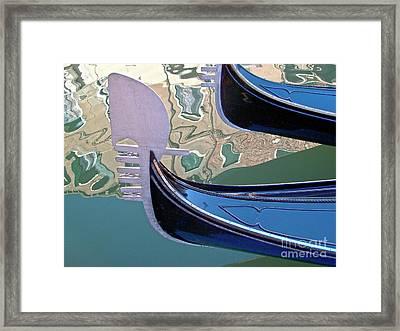 Venice Gondolas Framed Print by Heiko Koehrer-Wagner
