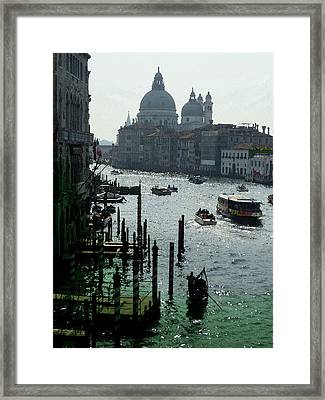Venice Grand Canale Italy Summer Framed Print