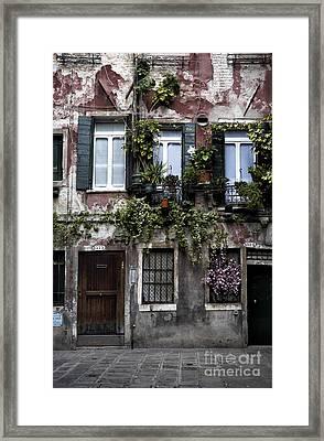Venice House I Framed Print by John Rizzuto