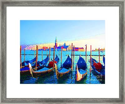Venice Hues Framed Print