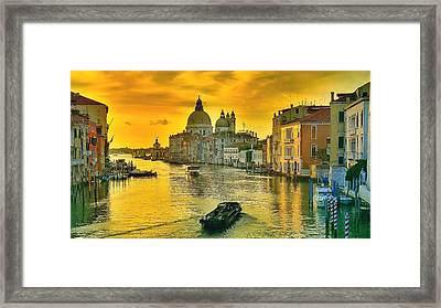 Golden Venice 3 Hdr - Italy Framed Print by Maciek Froncisz