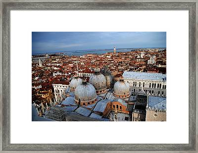 Venice In Glory Framed Print by Jacqueline M Lewis