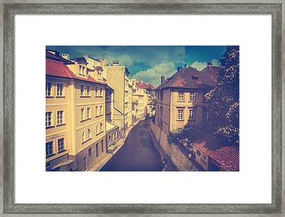 Venice In Prague Framed Print by Taylan Apukovska
