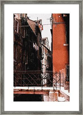 Framed Print featuring the photograph A Chapter In Venice by Ira Shander
