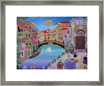 Venice, Italy, 2010-12 Acrylic On Canvas Framed Print by Herbert Hofer