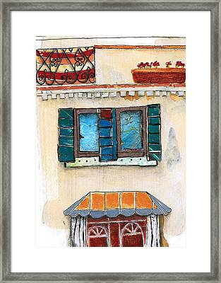 Venice Italy Building Framed Print by Robin Luther