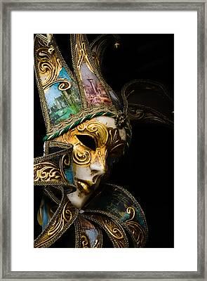 Venice Italy - Carnival Mask Framed Print