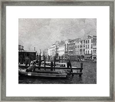 Venice Italy Cool Breeze Framed Print