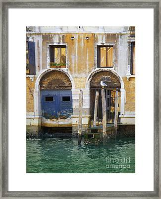 Venice Italy Double Boat Room Framed Print