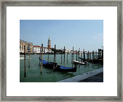 Venice Italy Gondola View On Doge Palace Framed Print