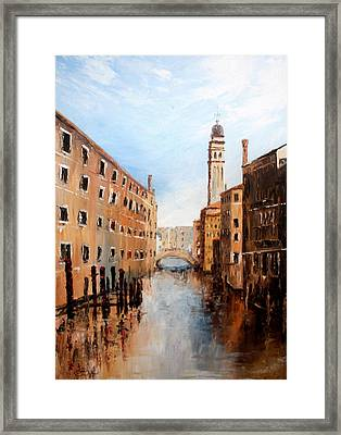Framed Print featuring the painting Venice Italy by Jean Walker