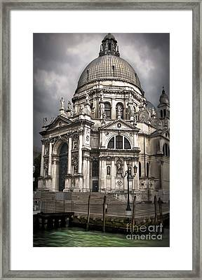 Venice Italy - Santa Maria Della Salute Framed Print by Gregory Dyer
