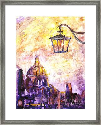 Venice Italy Watercolor Painting On Yupo Synthetic Paper Framed Print