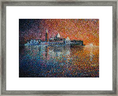 Venice Jewel Of The Adriatic Framed Print by Les Conroy