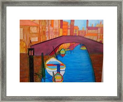 Framed Print featuring the painting Venice by Judi Goodwin