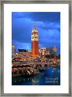 Venice Las Vegas Framed Print by Kate McKenna