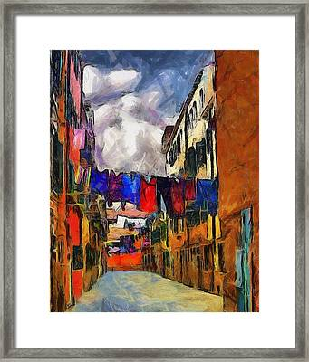 Venice Laundry 2 Framed Print by Cary Shapiro