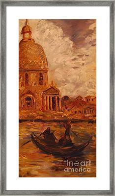 Venice Morning Framed Print by Nancy Bradley