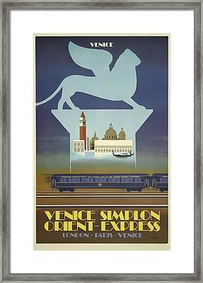 Venice Orient Express Framed Print