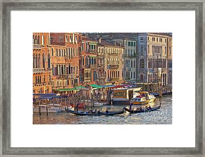 Venice Palazzi At Sundown Framed Print
