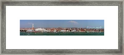 Framed Print featuring the photograph Venice Panorama by Art Photography