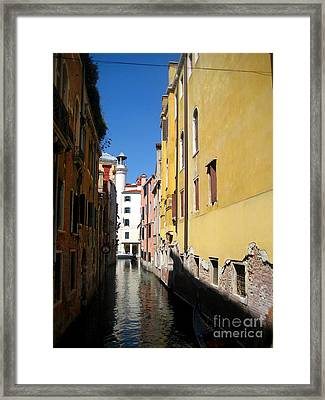 Venice Primary Colors Framed Print by Europe  Travel Gallery