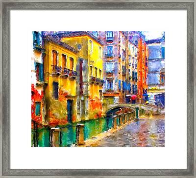 Venice Raining Framed Print by Yury Malkov