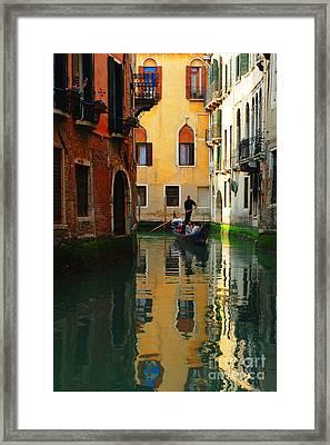 Venice Reflections Framed Print