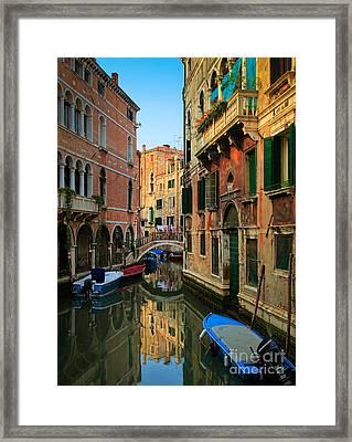 Venice Reflections Framed Print by Inge Johnsson
