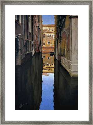 Venice Reflections - Pastel  Framed Print by Ben Kotyuk