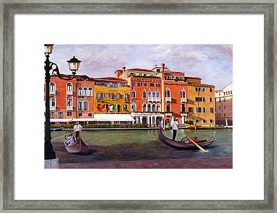 Framed Print featuring the painting Venice by Rick Fitzsimons