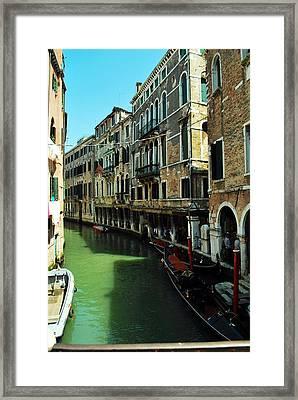 Venice River Framed Print