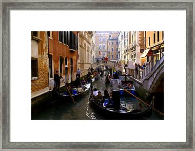 Framed Print featuring the digital art Venice by Ron Harpham