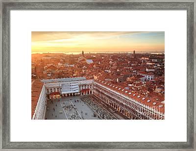 Venice Roofs Framed Print